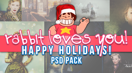 rabbit loves you! holiday psd pack by rabbithelps