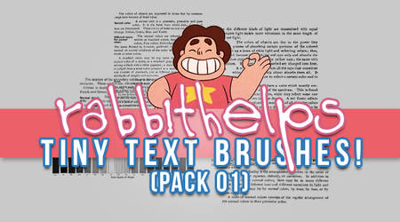 rabbithelps tiny text brushes! pack 01