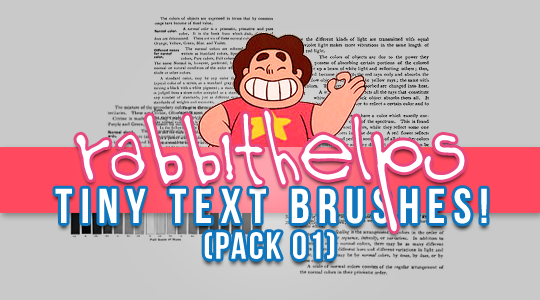 rabbithelps tiny text brushes! pack 01 by rabbithelps