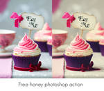 Free honey photoshop action