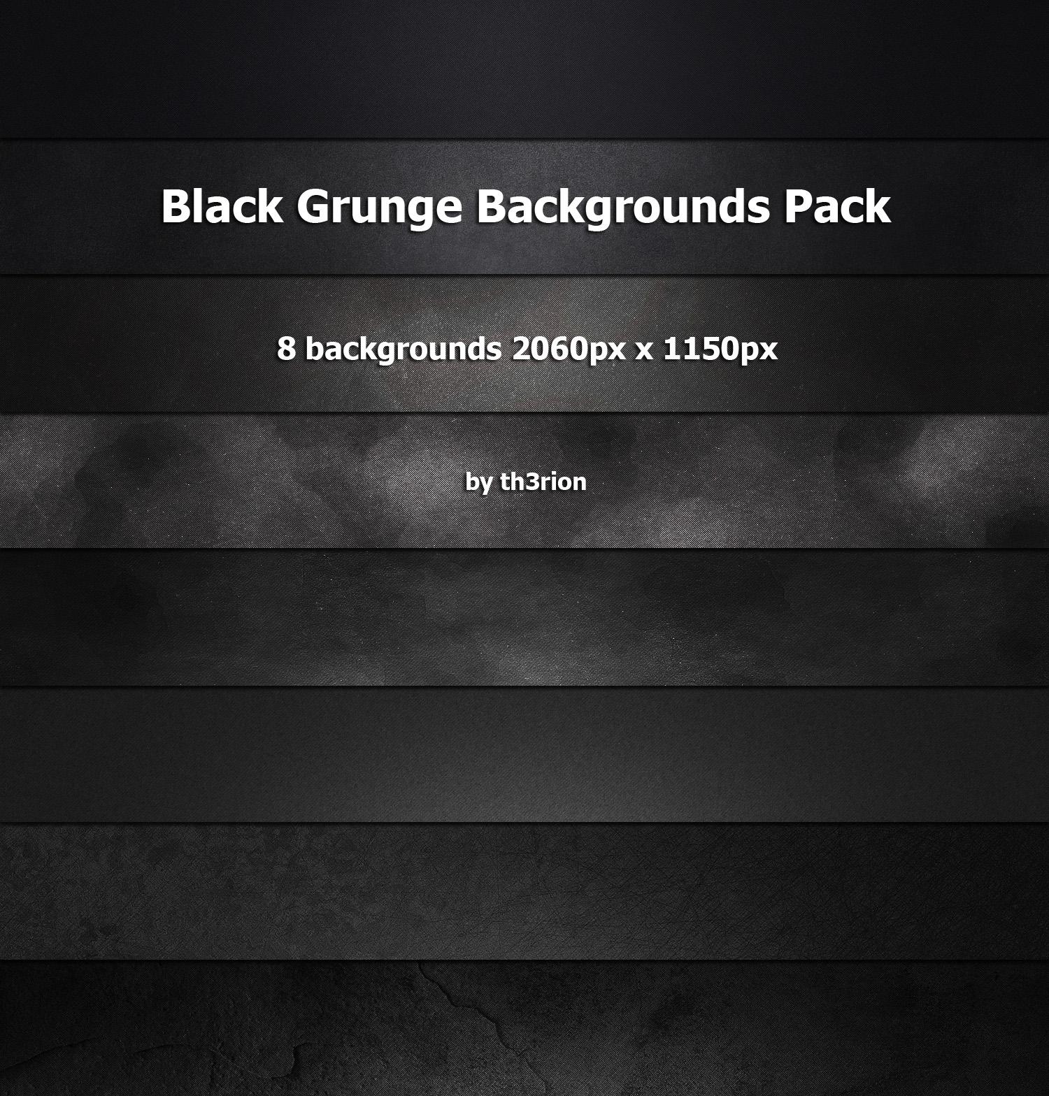 Black Grunge Backgrounds Pack