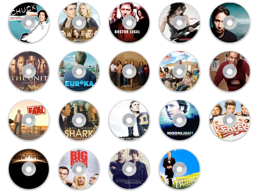 more tv series cd icons by Sospe