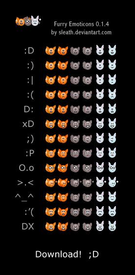 Furry Emoticons 0.1.4 by Sleath