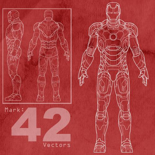 Great Free Mark 42 Ironman Vectors By MattClarke ...