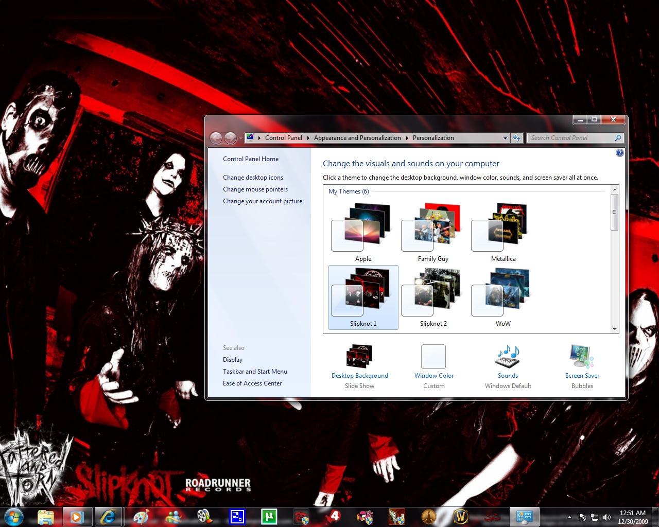 Windows 7 Theme: Slipknot 1 by pictionaryo