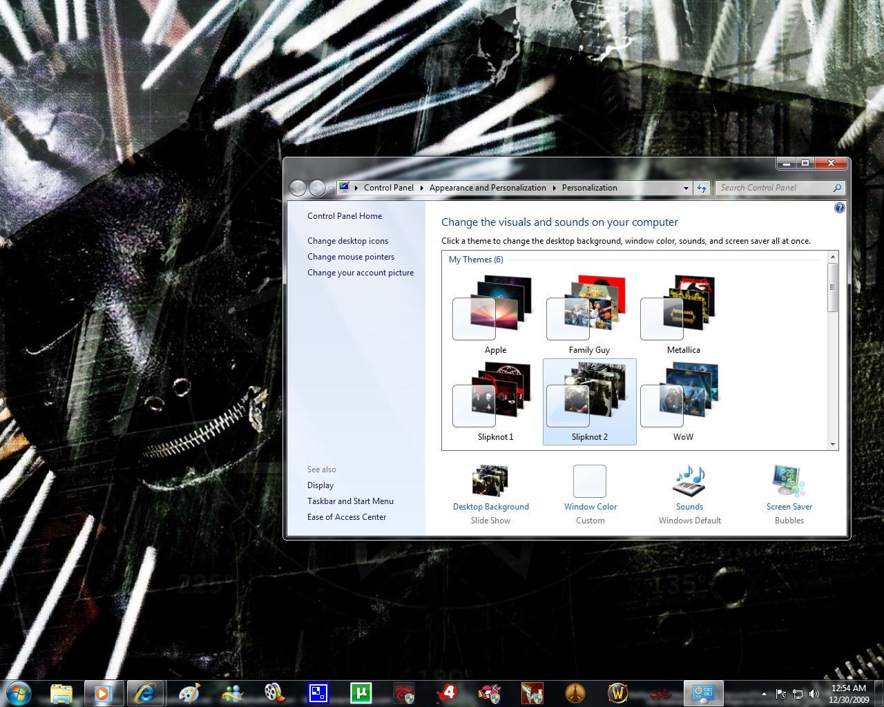 Windows 7 Themes: Slipknot 2 by pictionaryo
