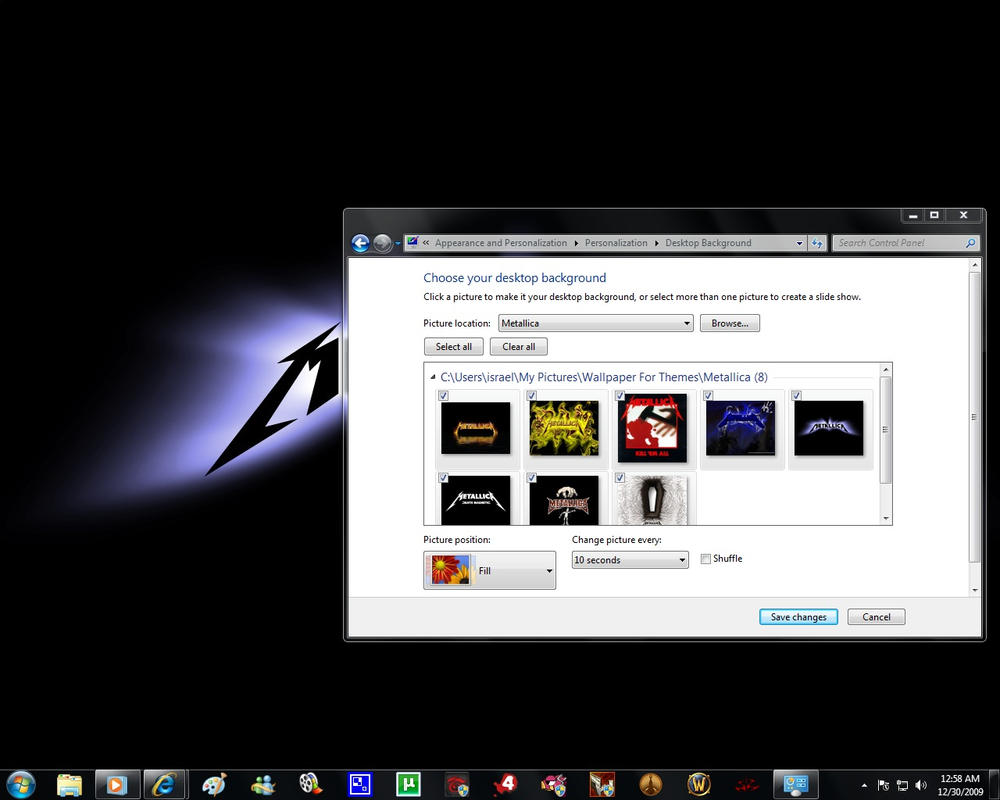 Windows 7 Themes: Metallica by pictionaryo