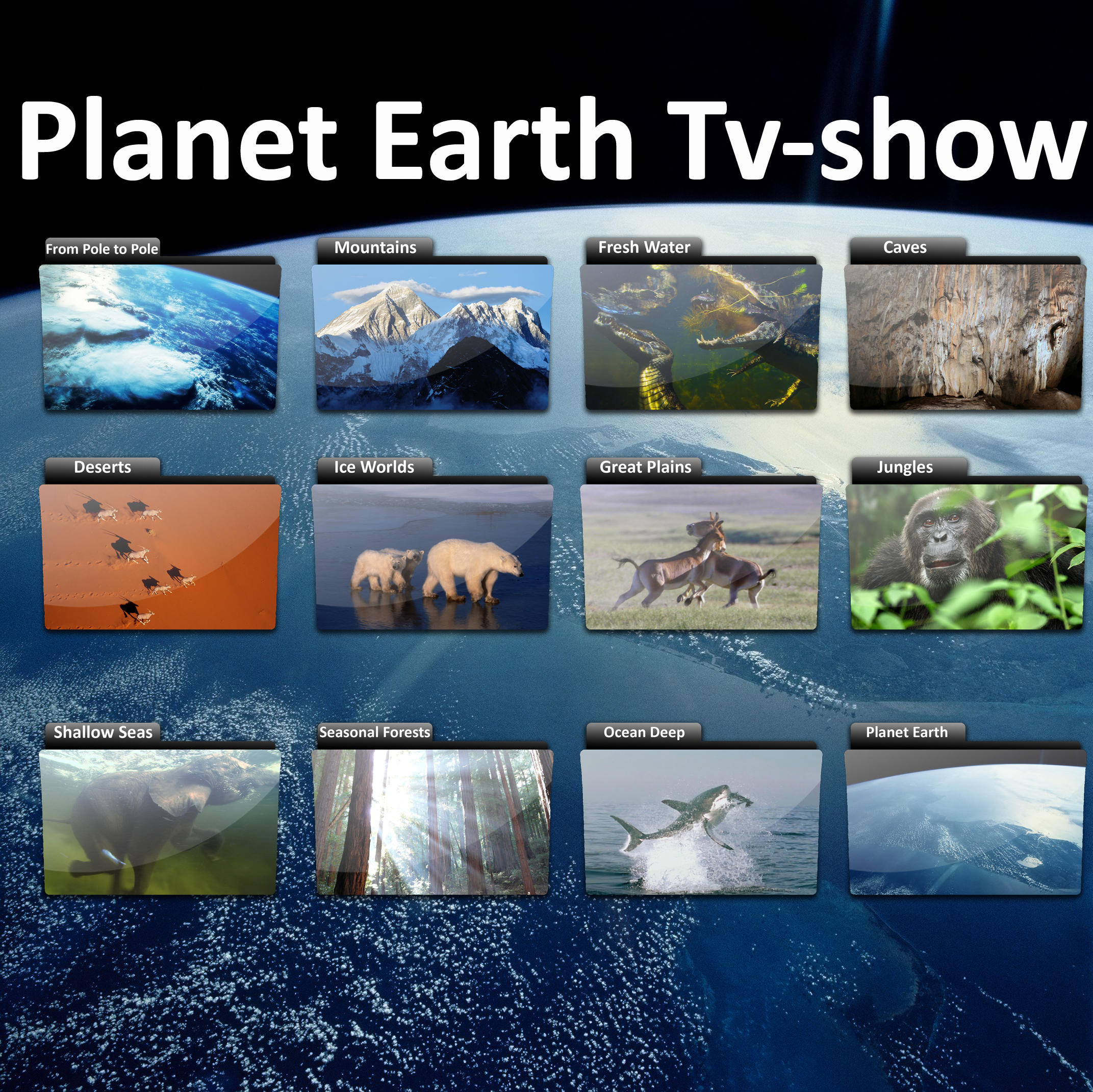 Planet Earth TV-Show Icons by Bastan on DeviantArt