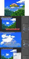 2- BNHA Clouds Photoshop brush tutorial + download