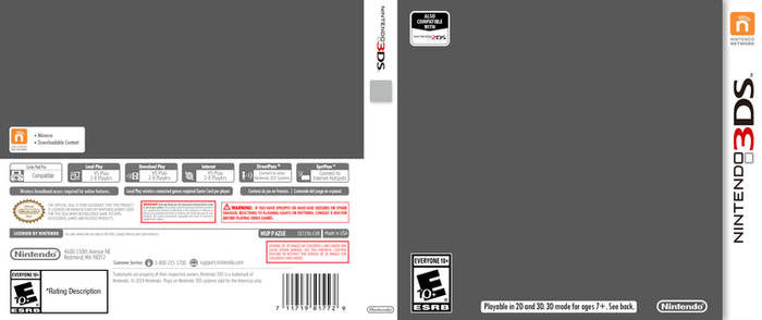 Nintendo 3DS Cover Template