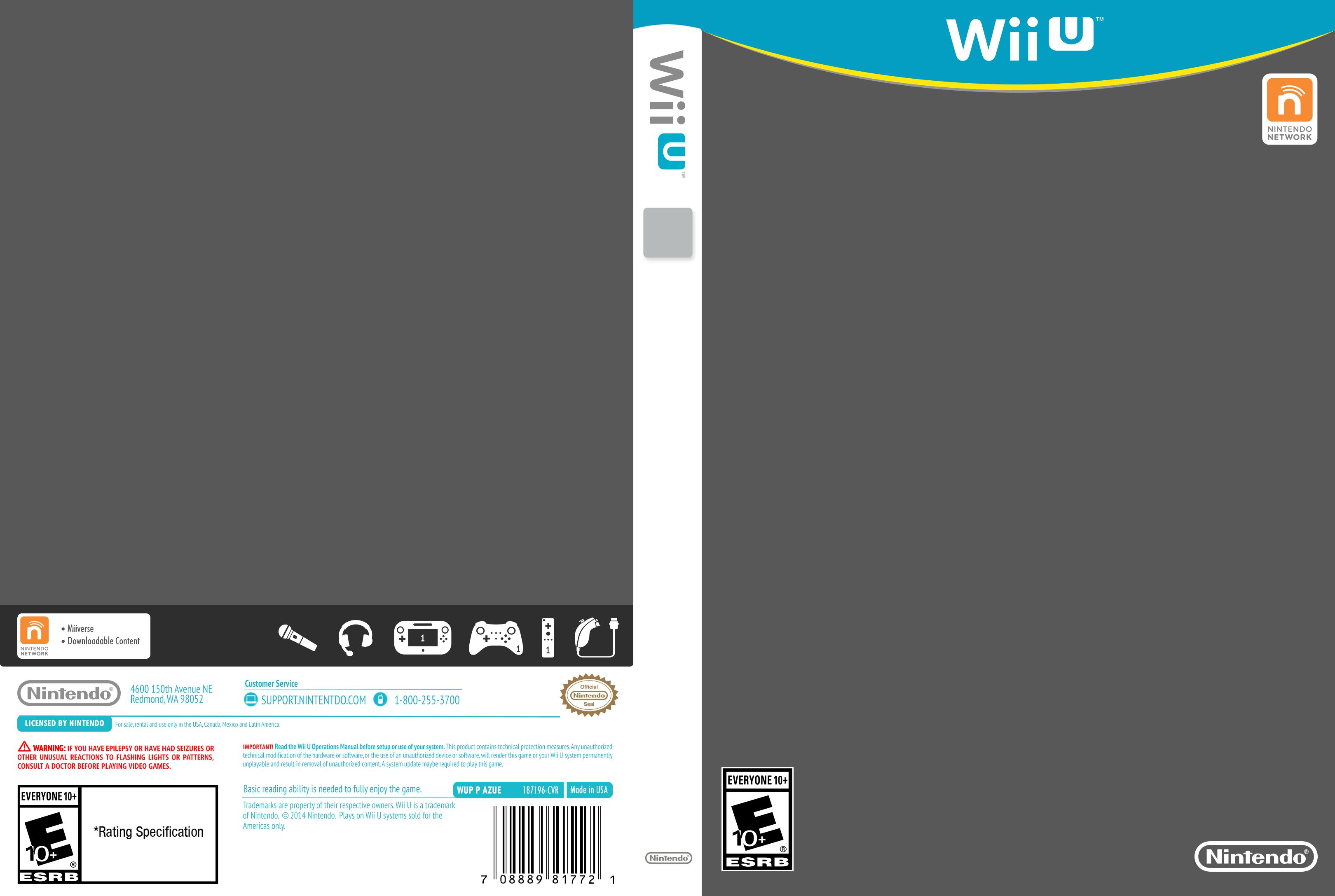Wii U Cover Template