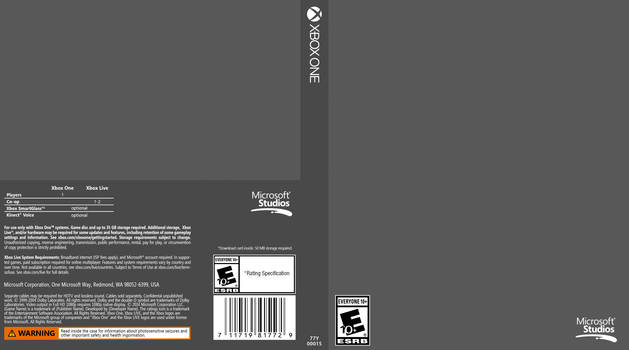 Xbox One Cover Template