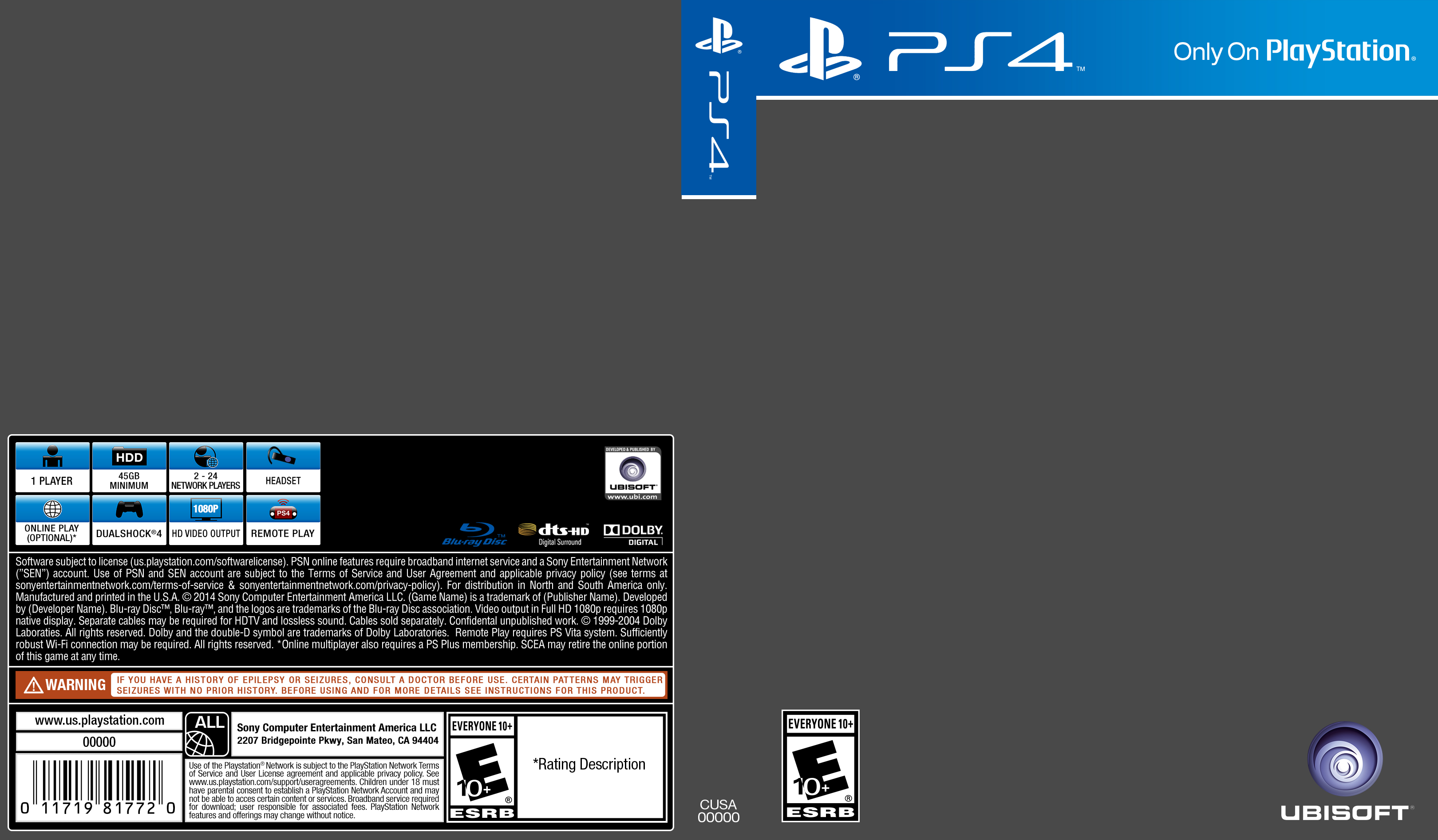 PS4 Cover Template by ETSChannel on DeviantArt