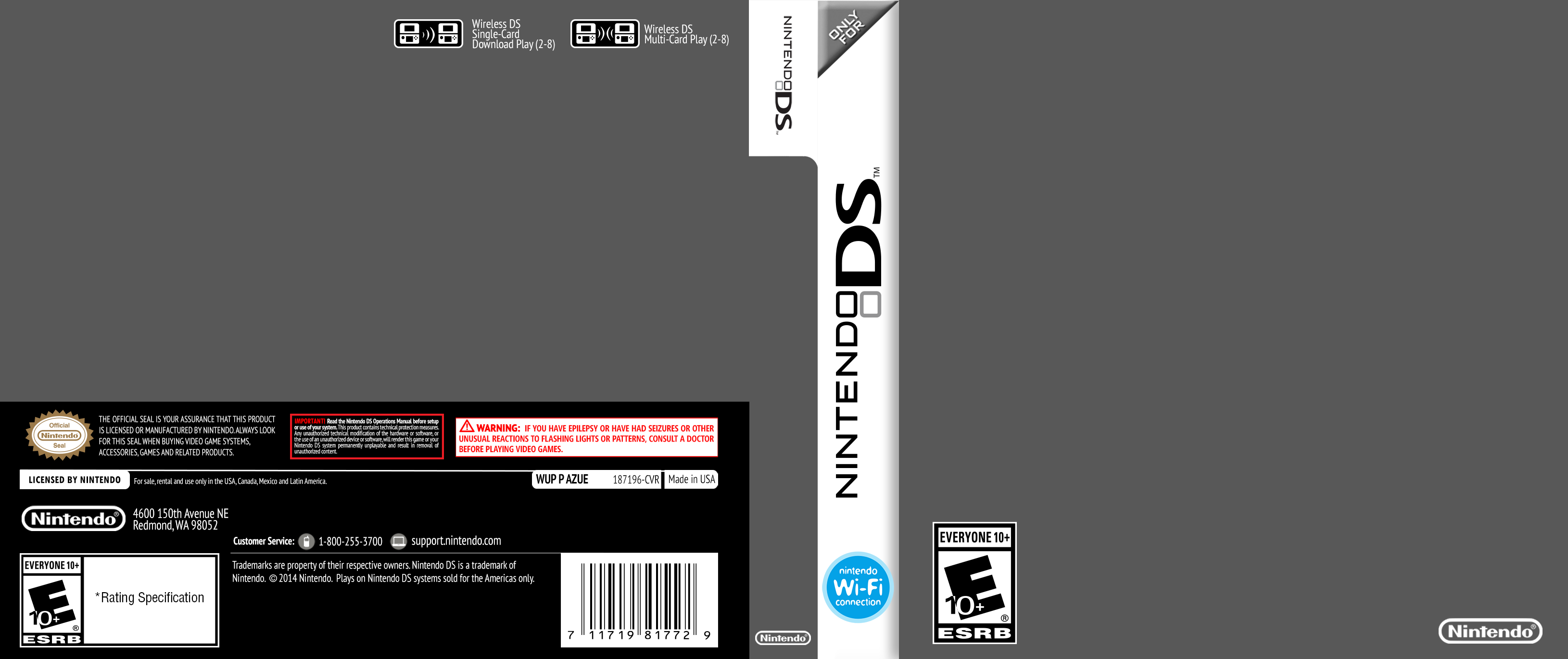 Nintendo DS Cover Template