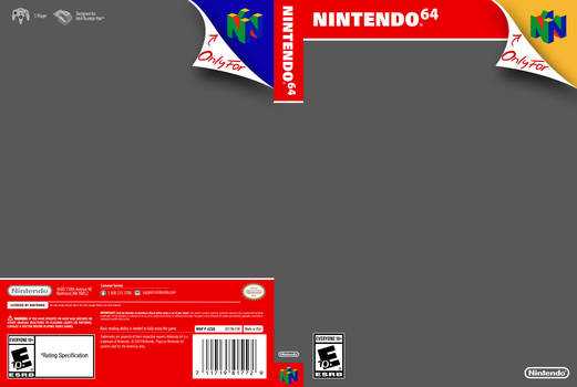 Nintendo 64 Cover Template