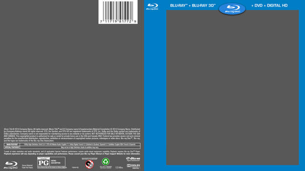 BluRay Cover Template