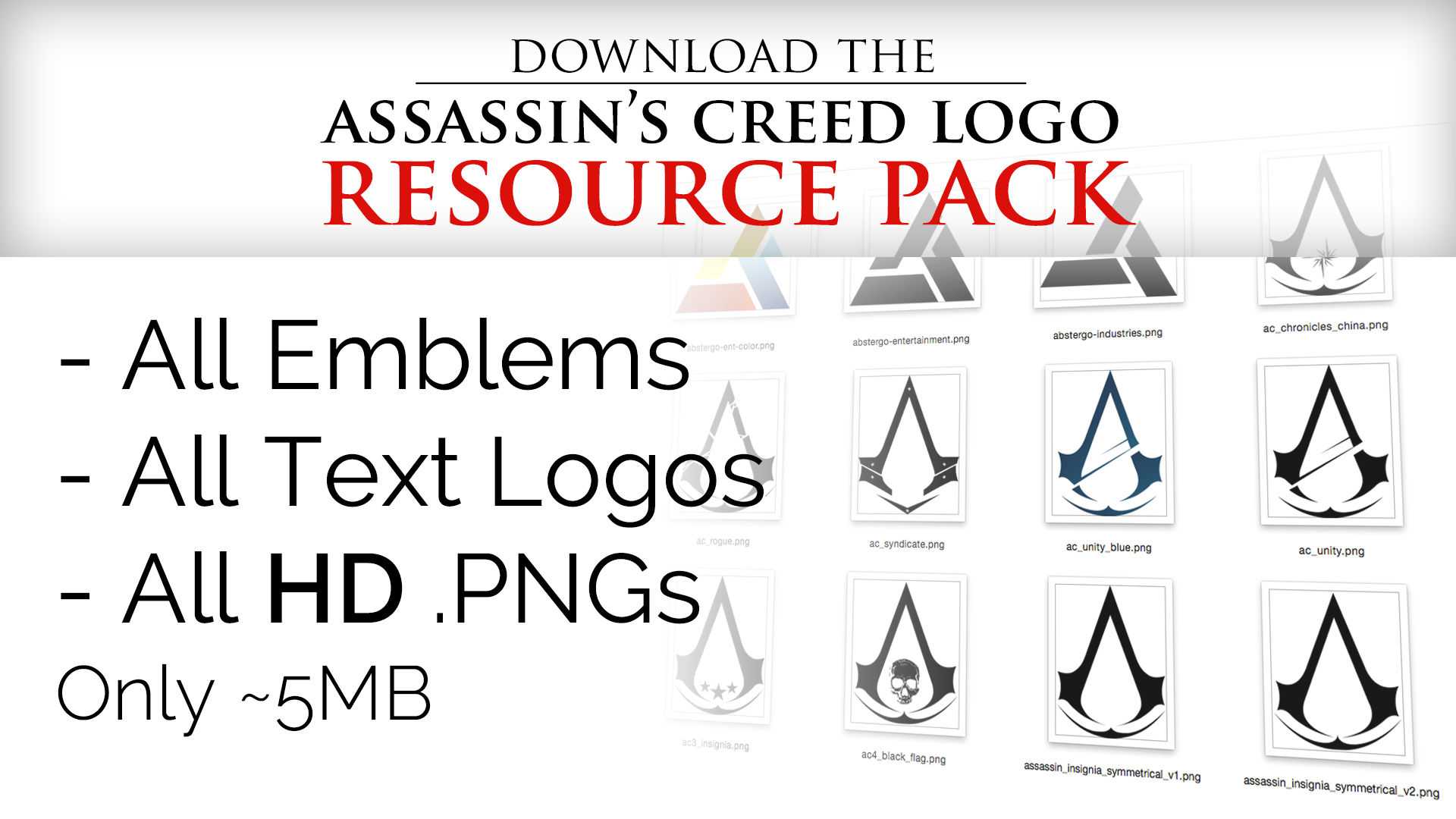 Assassin S Creed Logo Resource Pack By Irakli008 On Deviantart