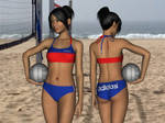 Beach Volleyball Outfit for Genesis 3 Female