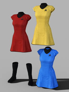 Star Trek Uniform Set for Genesis 8 Female