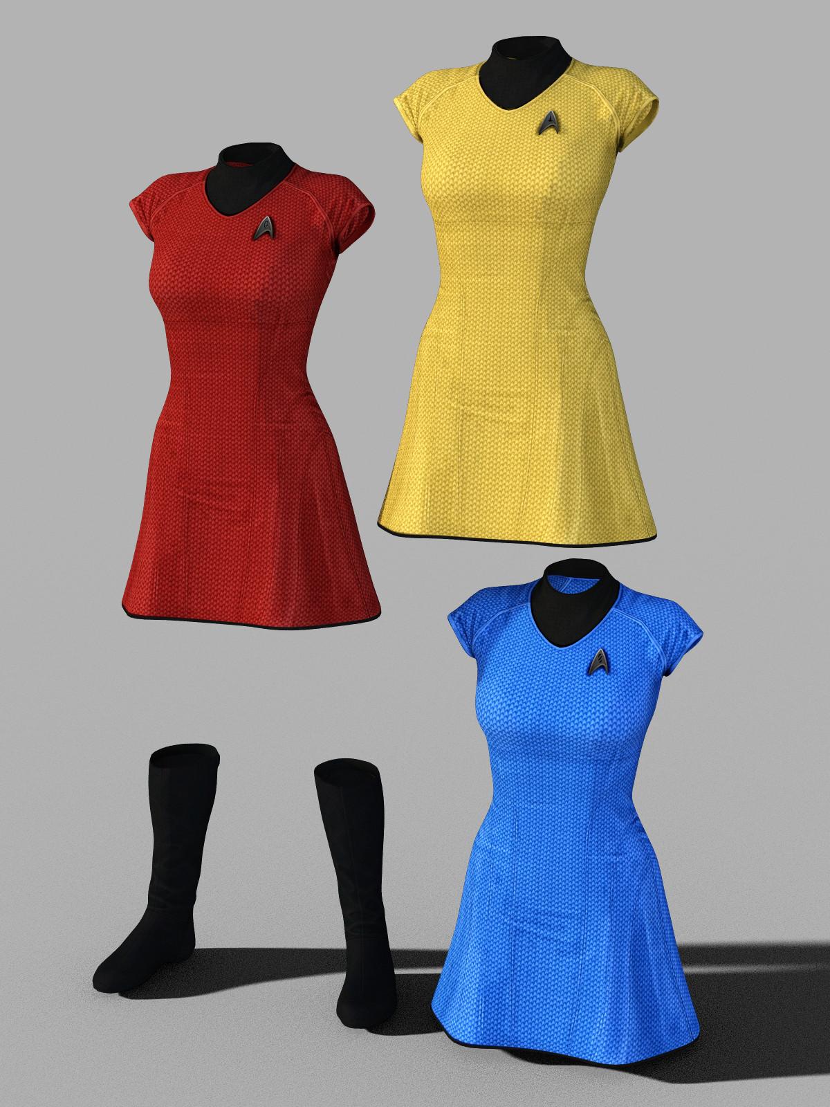 Star Trek Uniform Set for Genesis 8 Female by amyaimei