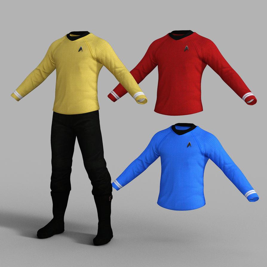 Star Trek Uniform Set for Genesis 8 Male by amyaimei