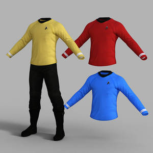 Star Trek Uniform Set for Genesis 8 Male