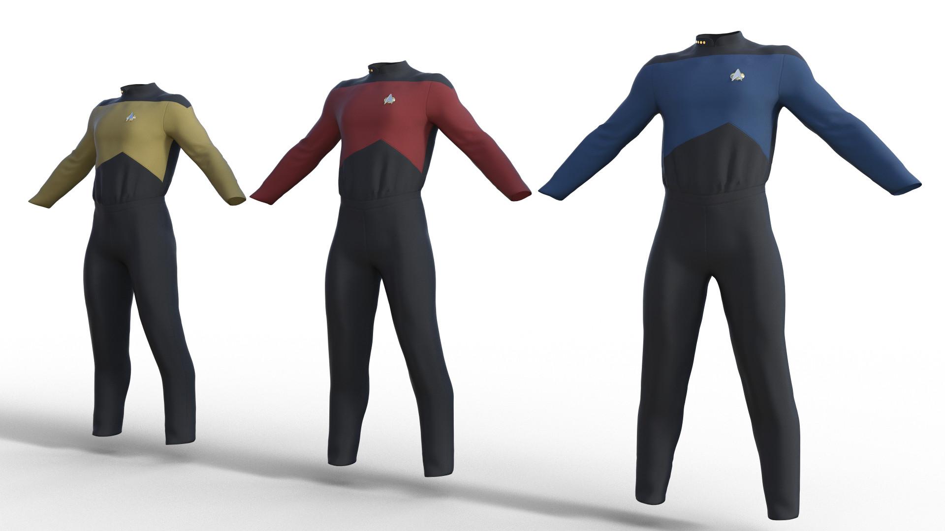 Star Trek TNG Uniform for Genesis 8 Male