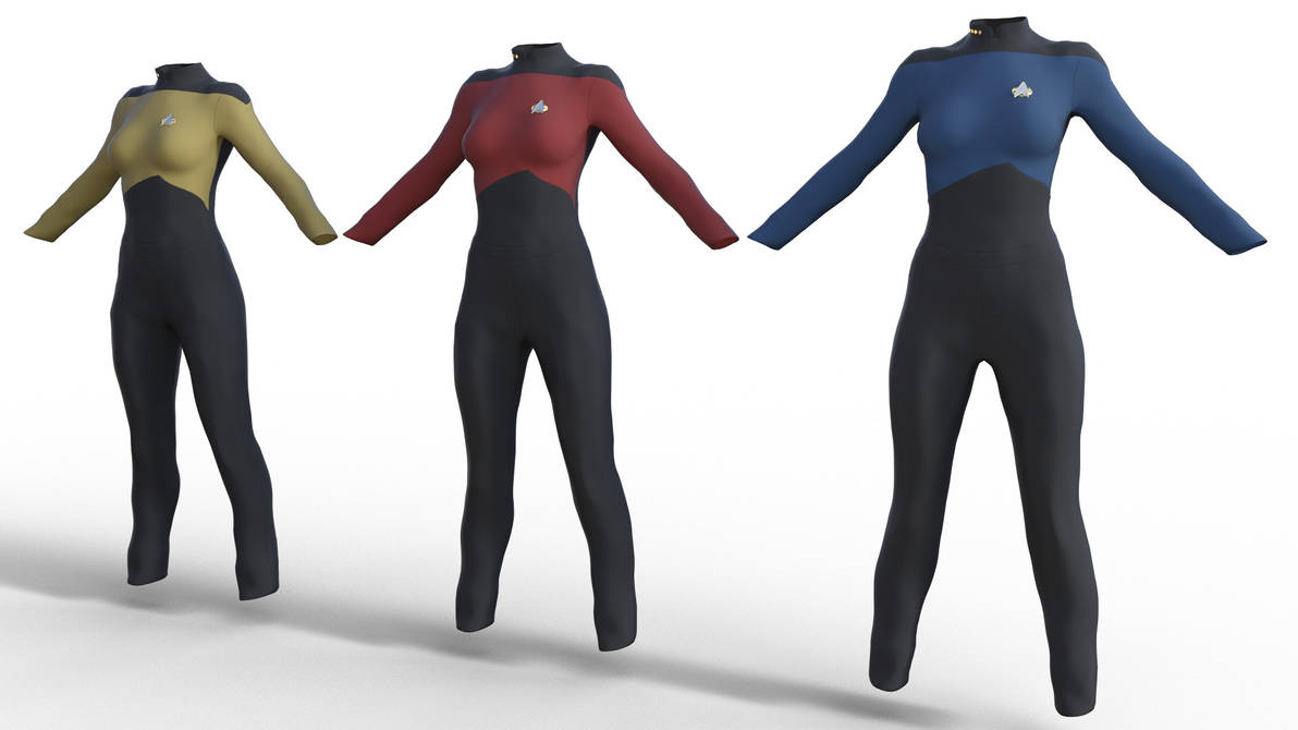 Star Trek TNG Uniform for Genesis 8 Female by amyaimei