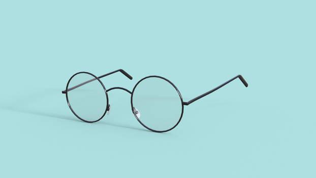 Round Eyeglasses for Genesis 8 Female DAZ Studio