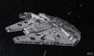 Millennium Falcon for XPS (posable)