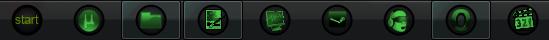 Black-to-Green Taskbar IconSet by Cyberdyne12489