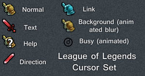 League of Legends Cursor Set by Cyberdyne12489