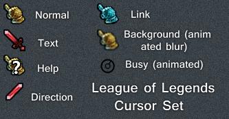 League of Legends Cursor Set by Cyberdyne12489