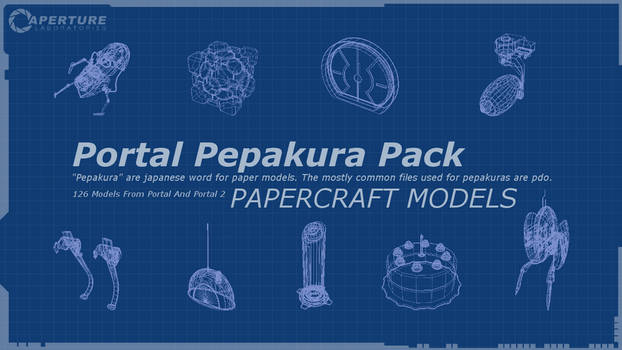WIP - Aperture Science Portal Pepakura Pack (126) by SmakkoHooves