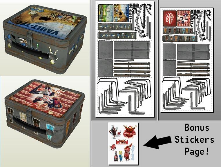 Fallout 4 - Lunch boxes Pepakura Papercraft by