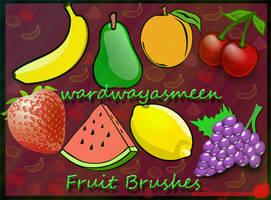Fruits Brushes by wardwayasmeen