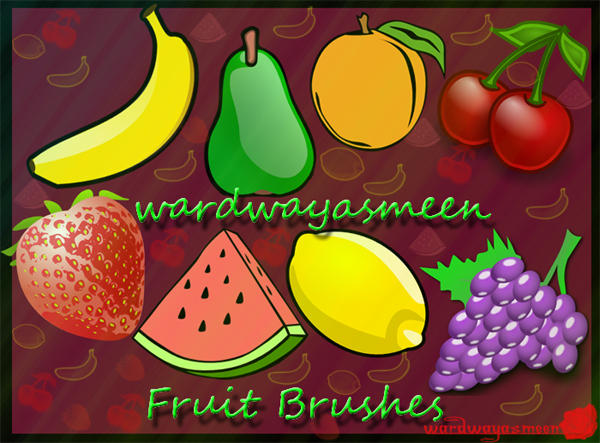 Fruits Brushes by wardwayasmeen