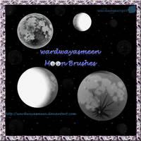 wardwayasmeen Moon Brushes by wardwayasmeen