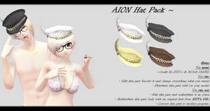 [MMD] AION Hat Pack DL ~