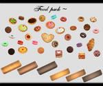 [MMD] Food Pack DL ~