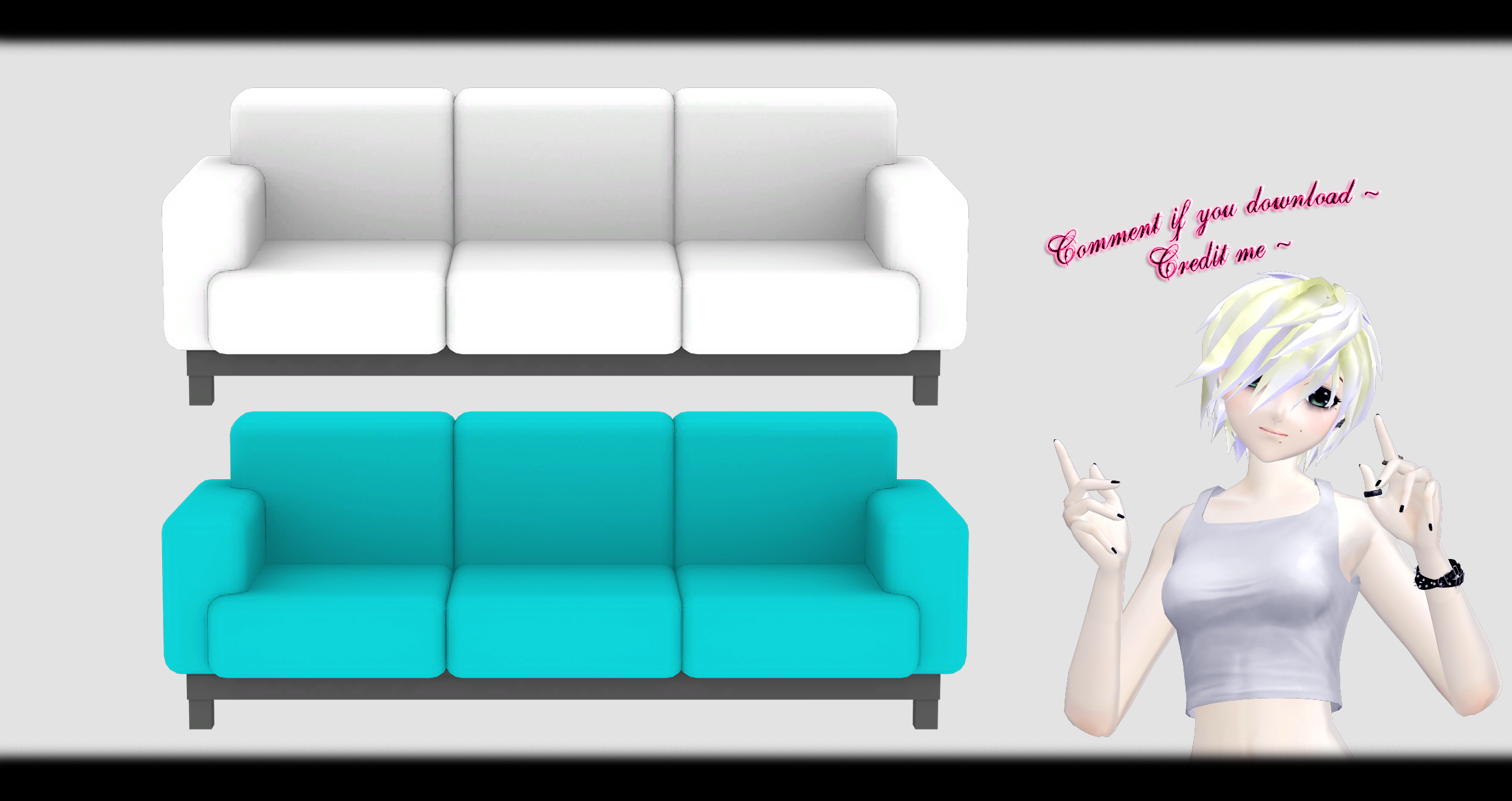 Mmd Sofa X3 Dl By O Dsv O On Deviantart