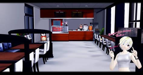 [MMD] Cafe DL ~ by o-DSV-o