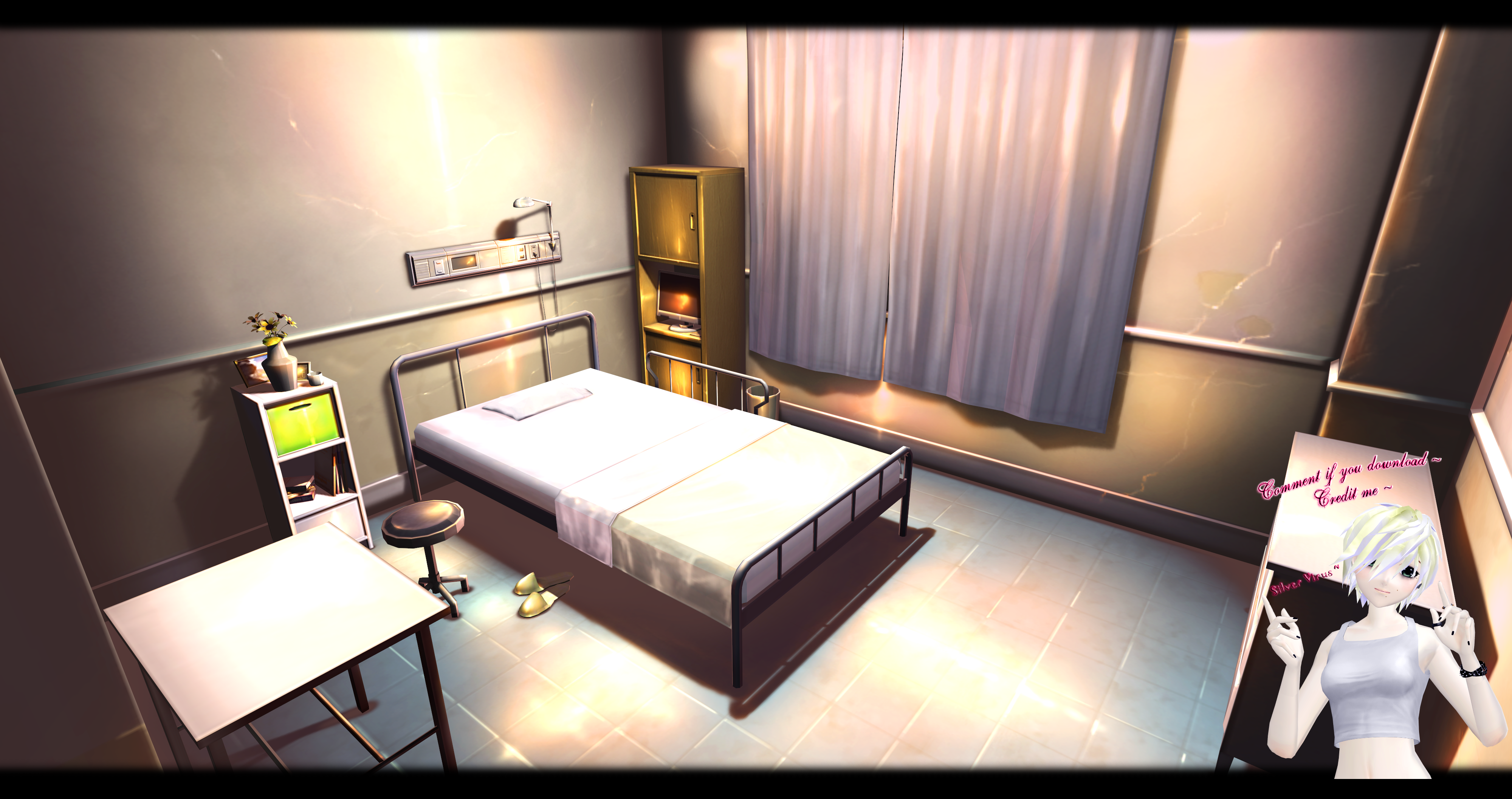 Mmd Hospital Room Dl By O Dsv O On Deviantart