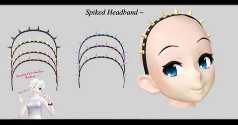 [MMD] Spiked Headband DL ~ by o-DSV-o