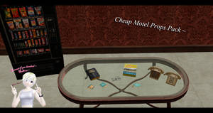 [MMD] Cheap Motel Props Pack DL ~