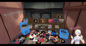 [MMD] Record Store Pack DL ~ by o-DSV-o