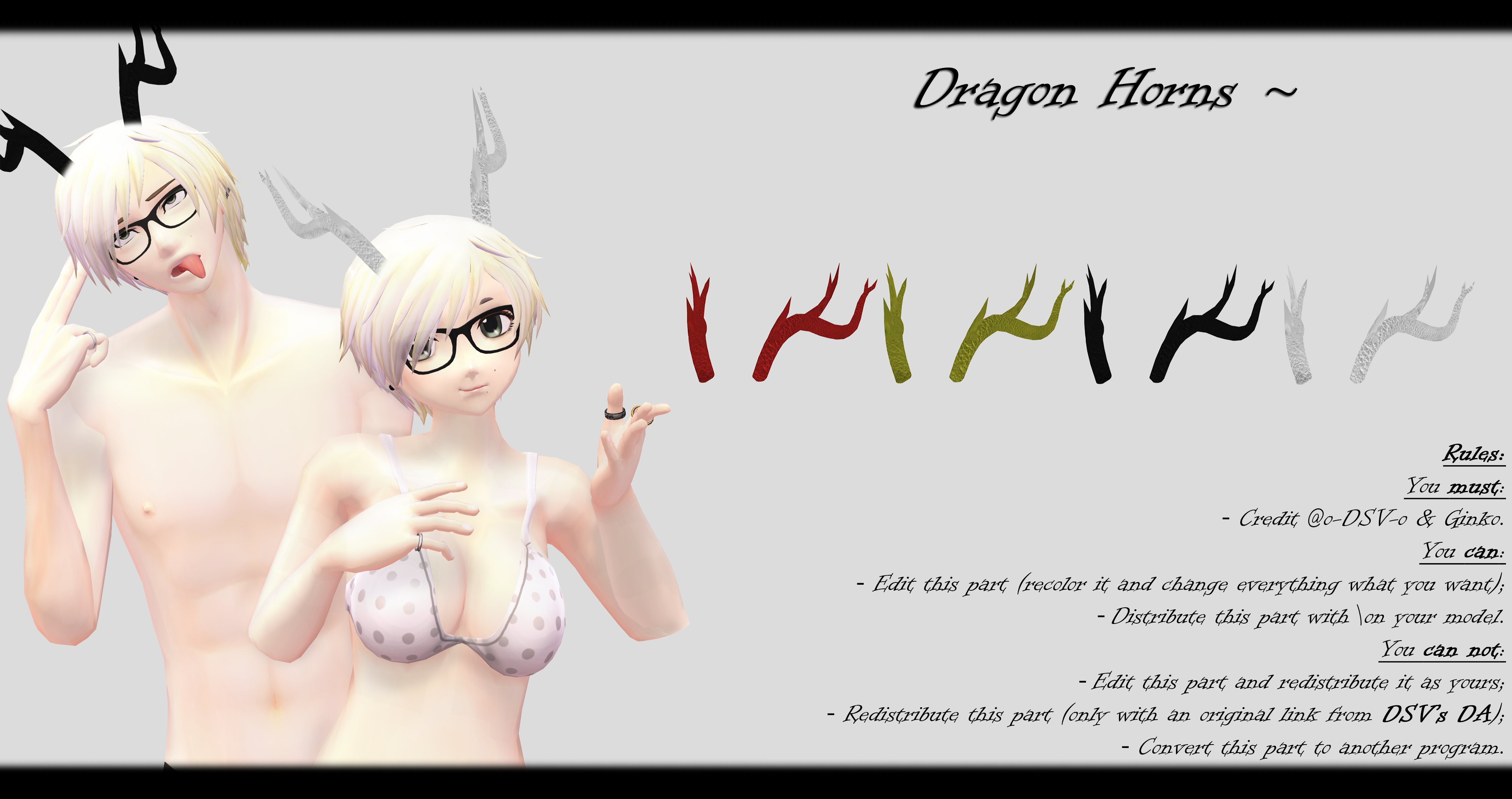 [MMD] Dragon Horns DL ~