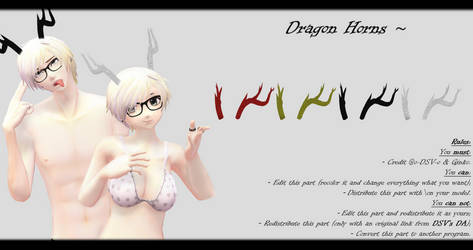 [MMD] Dragon Horns DL ~