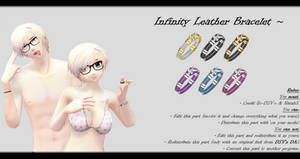 [MMD] Braided Infinity Leather Bracelet DL ~