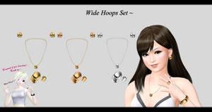 [MMD] Wide Hoops Set DL ~